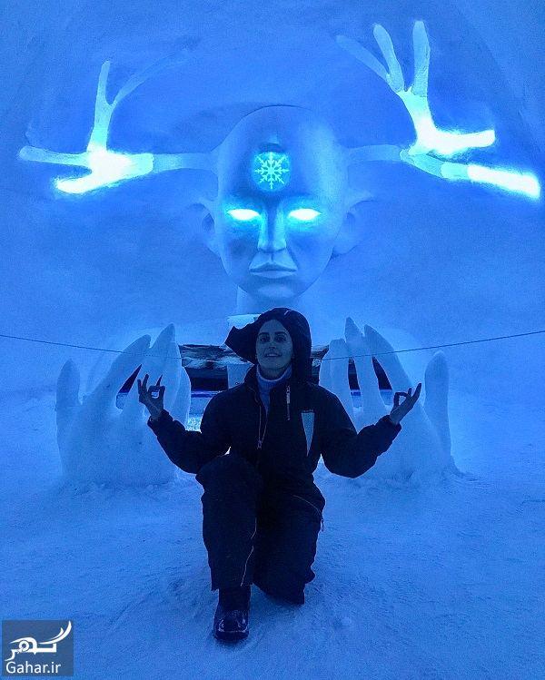 996032 Gahar ir عکسهای جدید و دیدنی الناز شاکردوست در هتل یخی سوئد