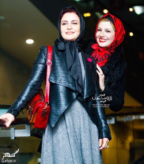 009757 Gahar ir مریلا زارعی و خواهرش در سی و ششمین جشنواره فیلم فجر / 4 عکس