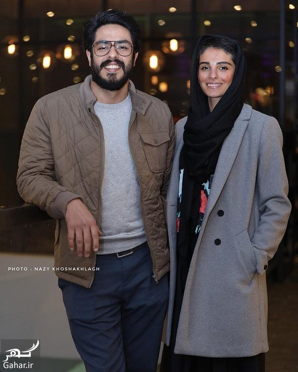 093325 Gahar ir پوریا شکیبایی و همسرش در اکران خصوصی فیلم کمدی انسانی / 3 عکس