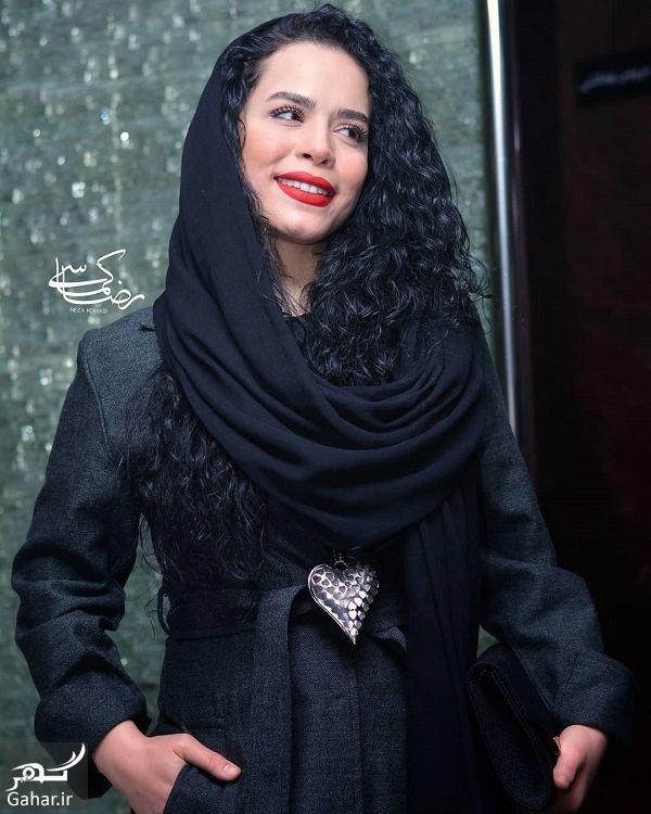 159289 Gahar ir ژست های خاص ملیکا شریفی نیا در اکران خصوصی فیلم در وجه حامل / 5 عکس