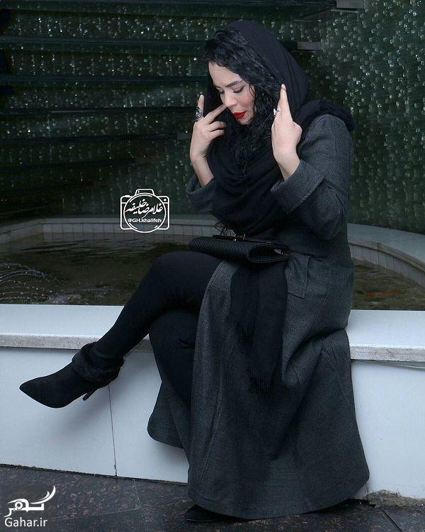 273088 Gahar ir ژست های خاص ملیکا شریفی نیا در اکران خصوصی فیلم در وجه حامل / 5 عکس