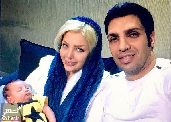 532105 Gahar ir عکس ولنتاین سپهر حیدری در کنار همسر و فرزندش