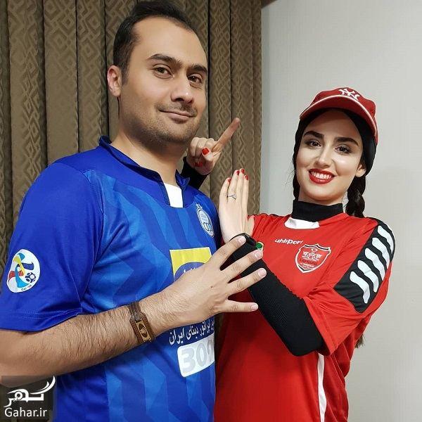 077433 Gahar ir عکسهای جالب هانیه غلامی و همسرش به مناسبت برگزاری دربی