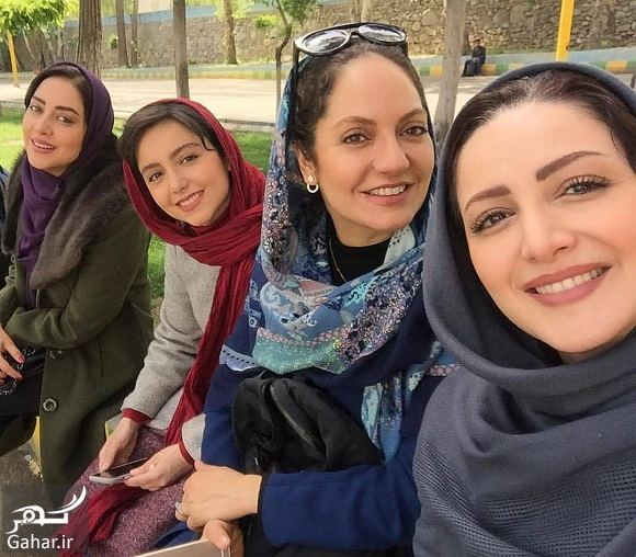 032069 Gahar ir عکس سلفی بازیگران زن سریال گلشیفته