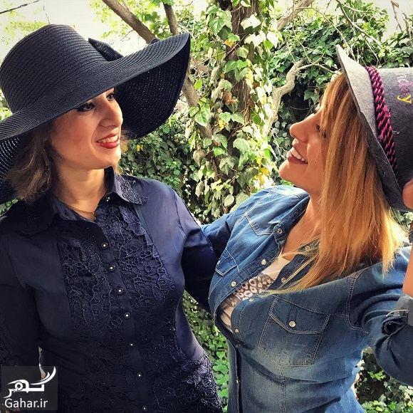 050808 Gahar ir عکس استایل متفاوت سمانه پاکدل و خواهرش با کلاه
