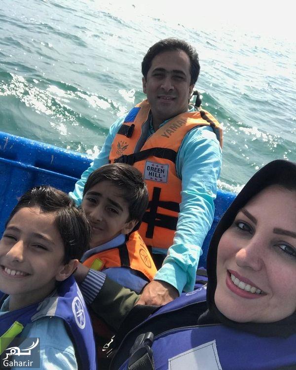 114859 Gahar ir قایق سواری گوینده خبر و همسرش / عکس
