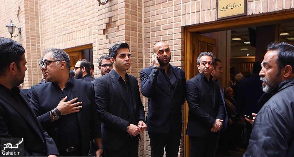 815066 Gahar ir عکسهای مراسم ختم ناصر چشم آذر با حضور هنرمندان