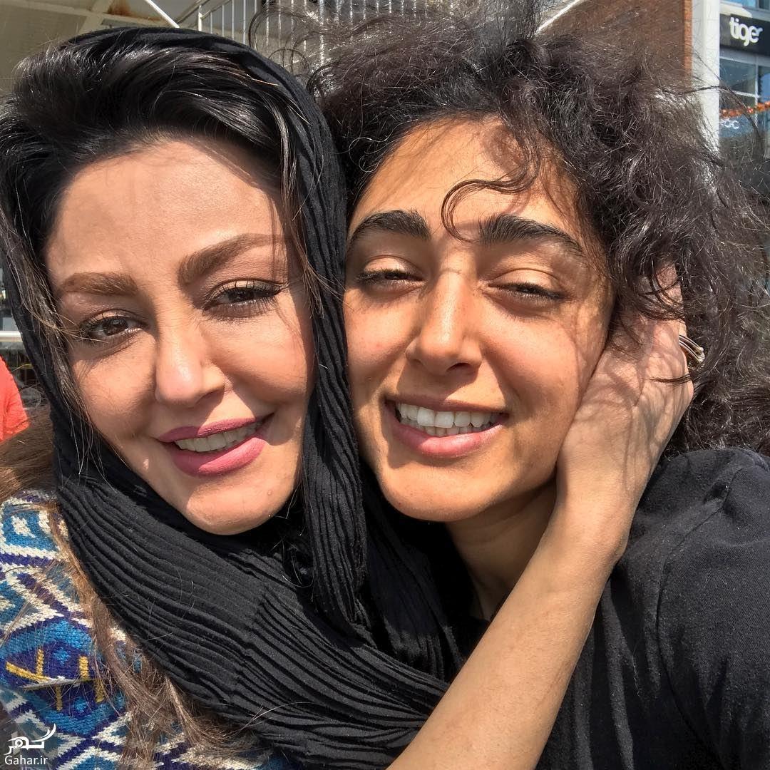 935884 Gahar ir دیدار خواهرانه گلشیفته و شقایق بعد از 2 سال در لندن ! عکس