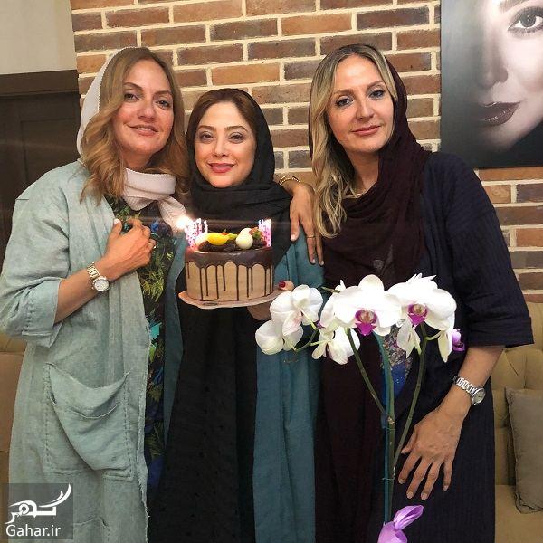 033082 Gahar ir جشن تولد 41 سالگی مهناز افشار در کنار خواهرش و مریم سلطانی / 5 عکس