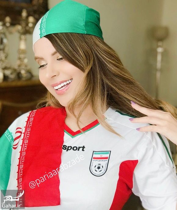 053452 Gahar ir عکسهای پریا عرب زاده مدل ایرانی با لباس ورزشی در حمایت از تیم ملی