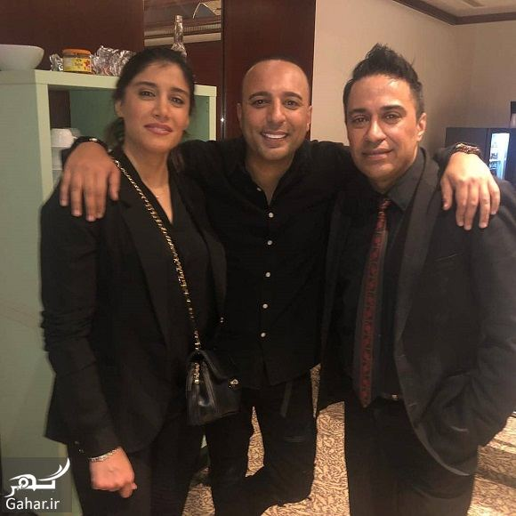 214594 Gahar ir فرزندان گوهر خیراندیش کنار آرش خواننده لس آنجلسی / عکس