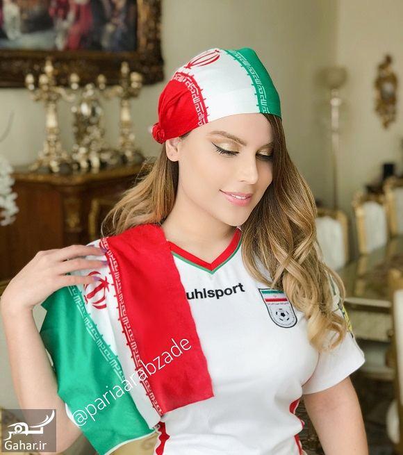 259239 Gahar ir عکسهای پریا عرب زاده مدل ایرانی با لباس ورزشی در حمایت از تیم ملی