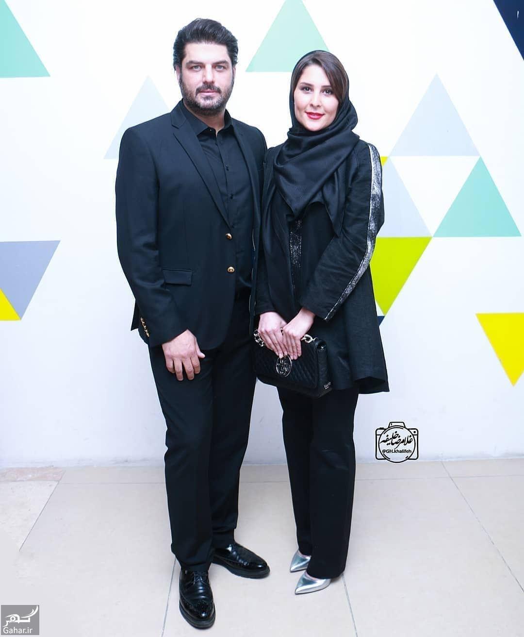 419182 Gahar ir عکس های جدید سام درخشانی و همسرش در اکران خصوصی  دشمن زن