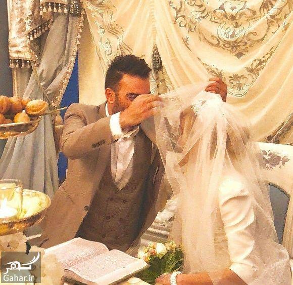 464665 Gahar ir اولین عکس حنیف عمران زاده و همسرش سر سفره عقد