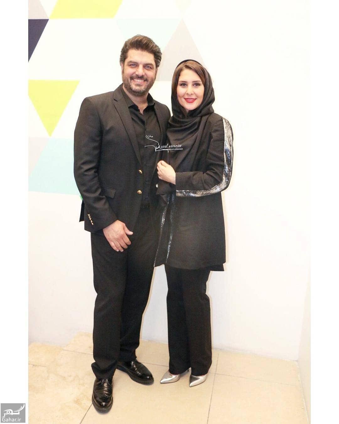697564 Gahar ir عکس های جدید سام درخشانی و همسرش در اکران خصوصی  دشمن زن