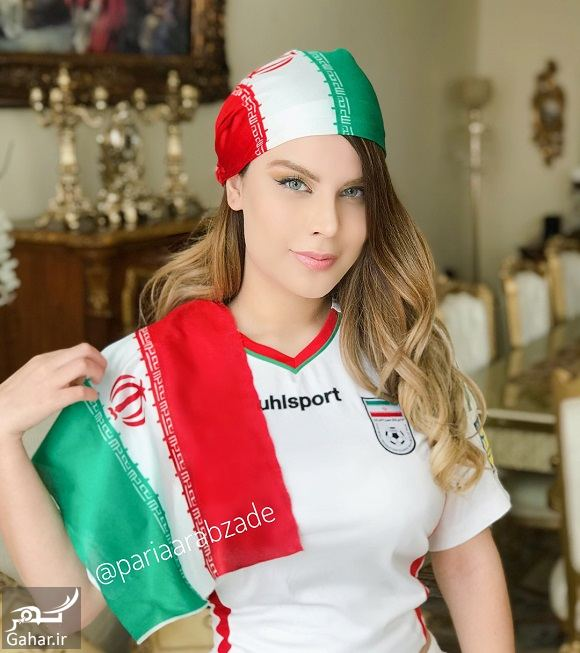 890238 Gahar ir عکسهای پریا عرب زاده مدل ایرانی با لباس ورزشی در حمایت از تیم ملی
