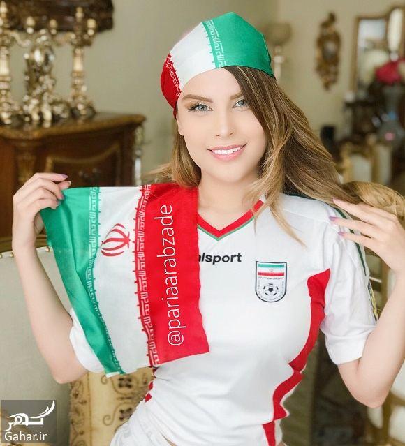 925833 Gahar ir عکسهای پریا عرب زاده مدل ایرانی با لباس ورزشی در حمایت از تیم ملی