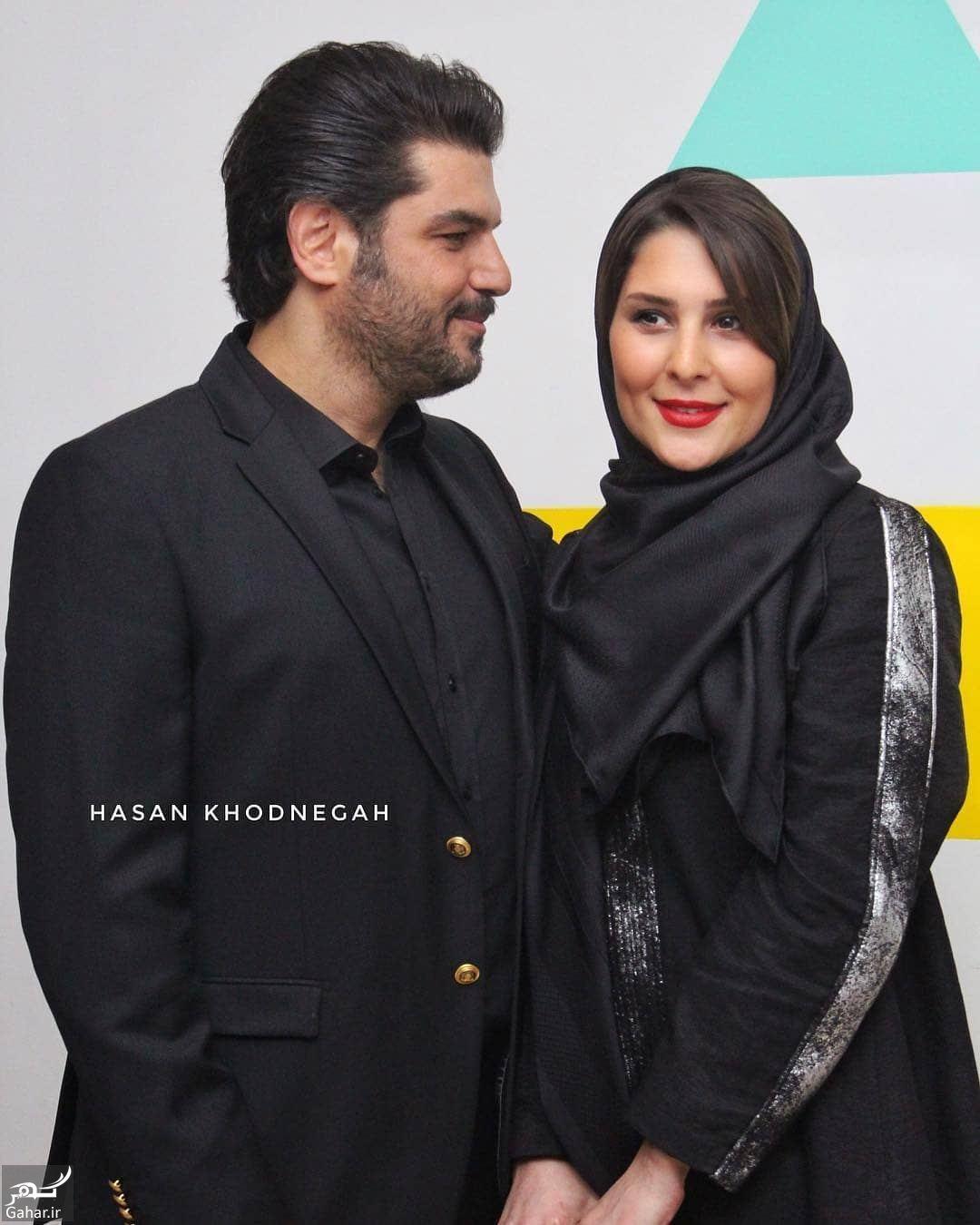 958978 Gahar ir عکس های جدید سام درخشانی و همسرش در اکران خصوصی  دشمن زن