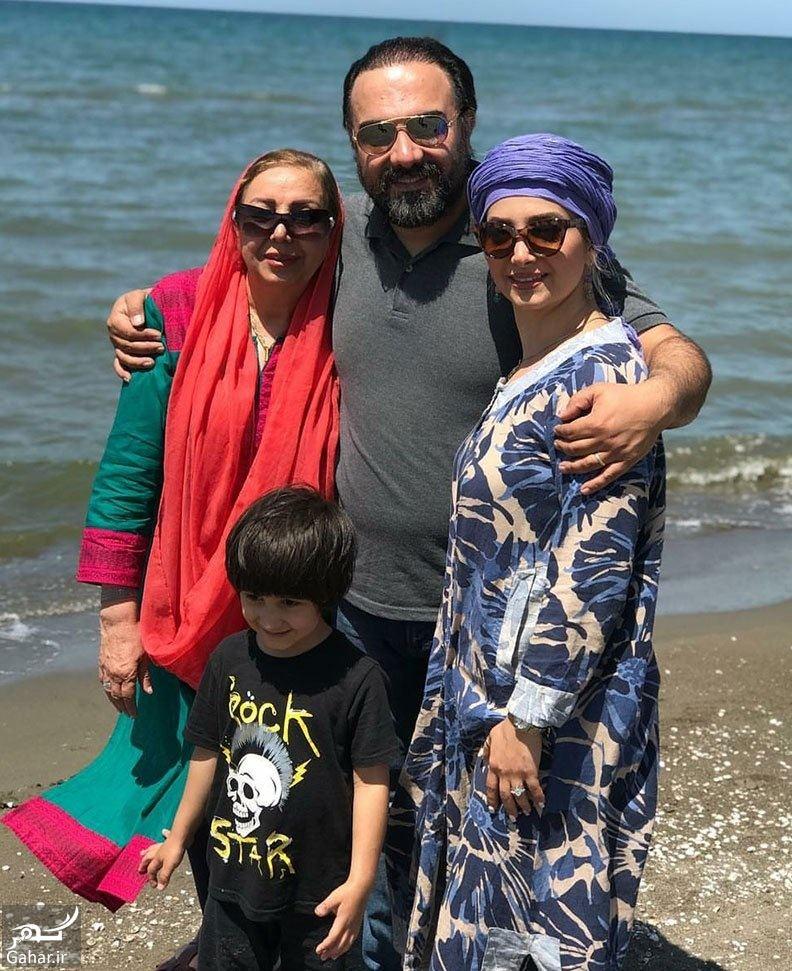 981930 Gahar ir عکسهای جدید برزو ارجمند و همسر و پسرش