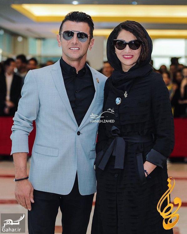 058244 Gahar ir استایل لاکچری امین حیایی و همسرش در جشن حافظ 97 / 3 عکس