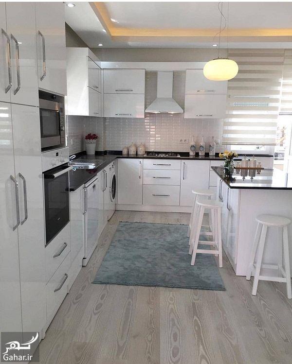 648734 Gahar ir آشپزخانه های شیک با کابینت های مدرن 2018 / 10 عکس