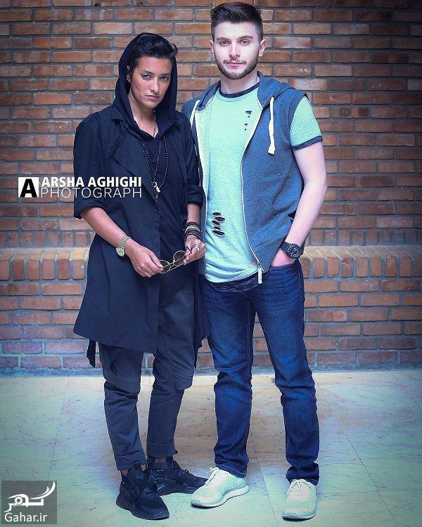 778552 Gahar ir دارا حیایی و مادرش با تیپ مردانه عجیب در اکران فیلم شعله ور / 3 عکس