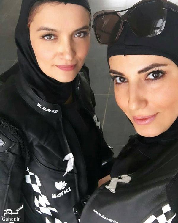 044107 Gahar ir عکسهای بازیگران زن در افتتاحیه پیست موتور سواری بانوان