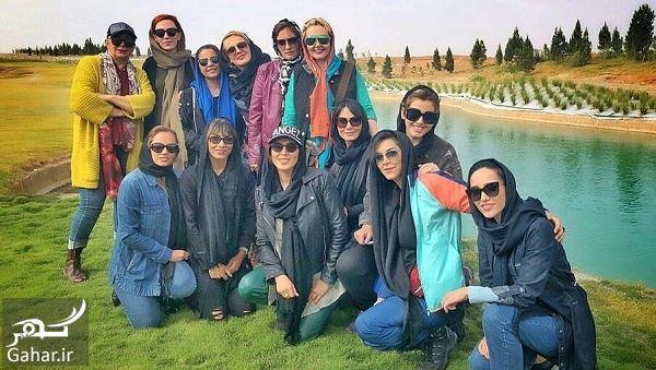 219476 Gahar ir عکسهای بازیگران زن در افتتاحیه پیست موتور سواری بانوان