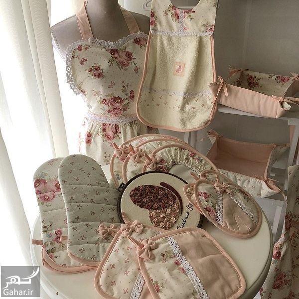 632646 Gahar ir مدل سرویس آشپزخانه پارچه ای عروس بسیار شیک و مدرن