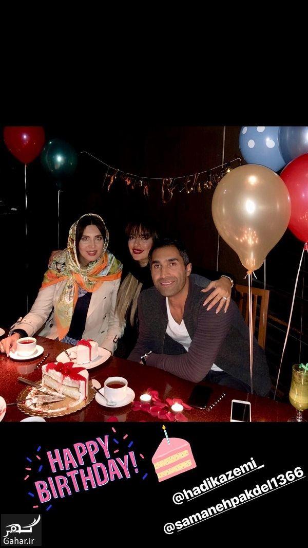 812356 Gahar ir عکسی متفاوت از جشن تولد هادی کاظمی در کنار همسرش و لیلا بلوکات