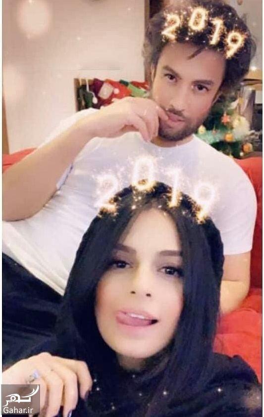 052378 Gahar ir عکس بنیامین بهادری و همسرش شایلی به مناسبت کریسمس