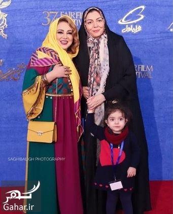 آزاده نامداری و دخترش روی فرش قرمز جشنواره فجر ۹۷, جدید 1400 -گهر