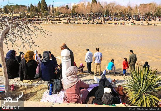 عکسهای زیبا از شور و شوق مردم اصفهان کنار زاینده رود بهمن ۹۷, جدید 1400 -گهر