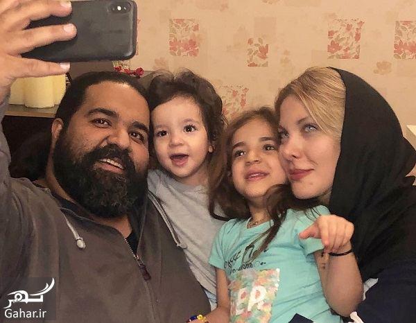 016084 Gahar ir عکسهای سالگرد ازدواج رضا صادقی در کنار همسر و دخترانش