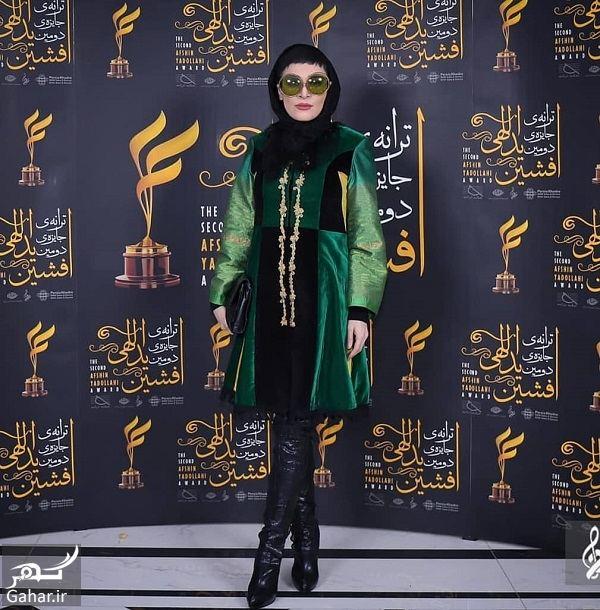 051055 Gahar ir تیپ متفاوت اندیشه فولادوند در مراسم جایزه ترانه (5 عکس)