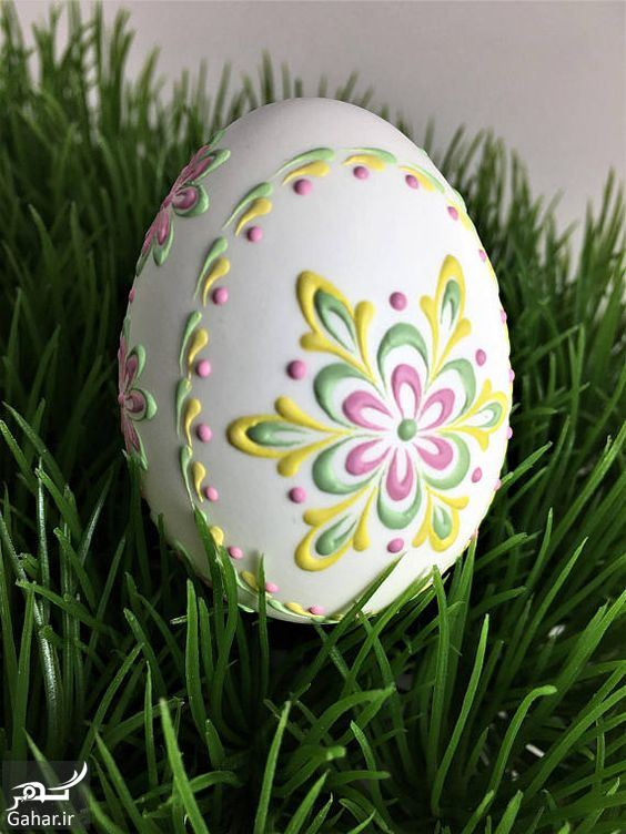 870318 Gahar ir تزیین تخم مرغ هفت سین ، مدل رنگ کردن تخم مرغ عید / 12 عکس