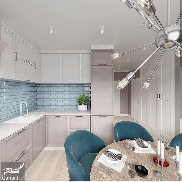 101244 Gahar ir مدل جدید آشپزخانه 2019 با کابینت شیک و طراحی لاکچری (10 مدل)