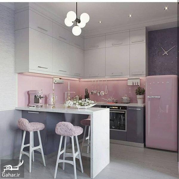 160133 Gahar ir مدل جدید آشپزخانه 2019 با کابینت شیک و طراحی لاکچری (10 مدل)