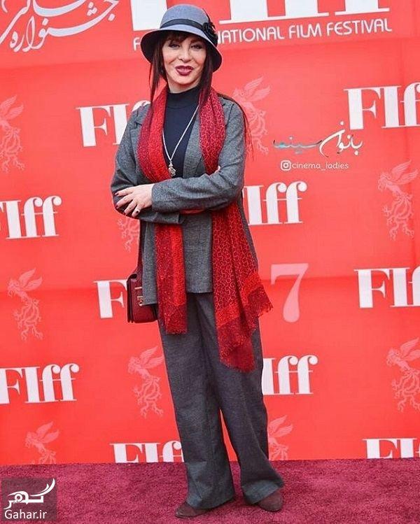 278146 Gahar ir استایل افسانه بایگان در اختتامیه جشنواره جهانی فیلم فجر 37 / 5 عکس