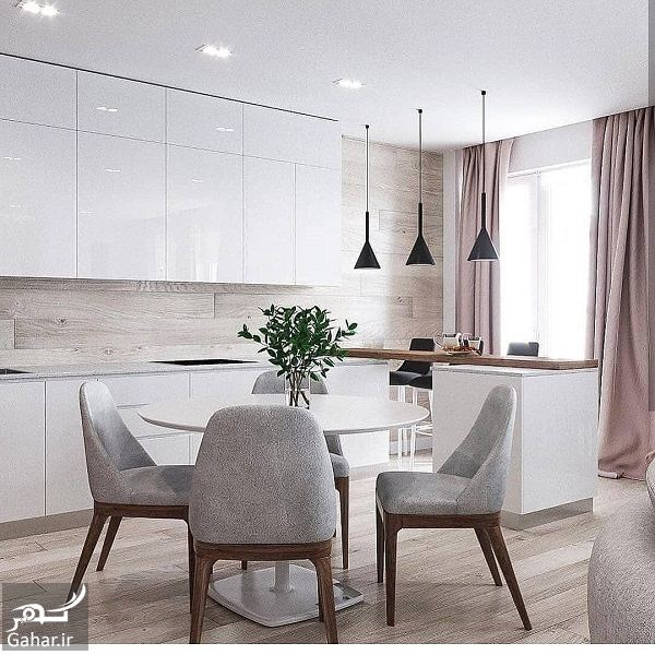 387487 Gahar ir مدل جدید آشپزخانه 2019 با کابینت شیک و طراحی لاکچری (10 مدل)