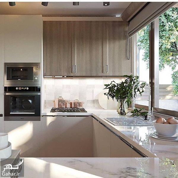 433760 Gahar ir مدل جدید آشپزخانه 2019 با کابینت شیک و طراحی لاکچری (10 مدل)