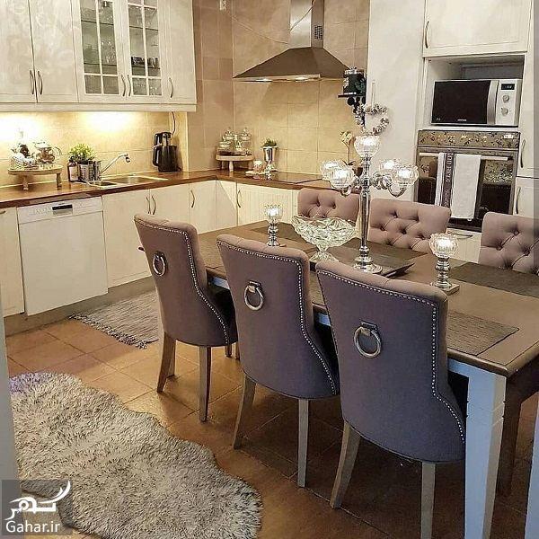 558971 Gahar ir مدل جدید آشپزخانه 2019 با کابینت شیک و طراحی لاکچری (10 مدل)