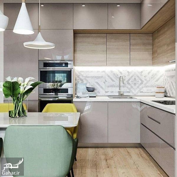 935221 Gahar ir مدل جدید آشپزخانه 2019 با کابینت شیک و طراحی لاکچری (10 مدل)