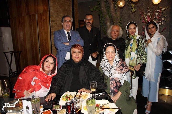 969883 Gahar ir عکسهای لیلا اوتادی در مراسم افطاری کنار همکارانش
