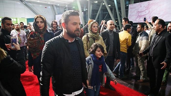 1454527503 عکس های بازیگران در فرش قرمز فیلم خشم و هیاهو جشنواره فجر 94