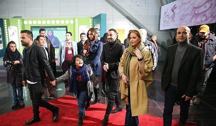 1454538676 عکس های بازیگران در فرش قرمز فیلم خشم و هیاهو جشنواره فجر 94