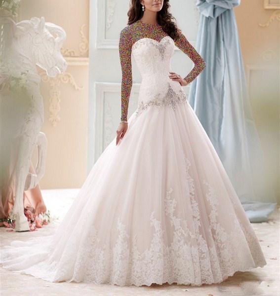 1454943362 جدیدترین و شیک ترین مدل لباس عروس ویژه سال 2016