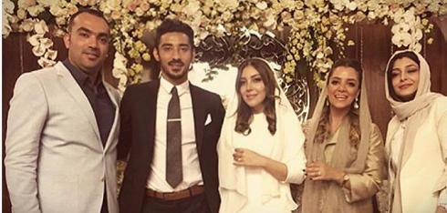 1459455693 عکس های ازدواج رضا قوچان نژاد با خواهر ساره بیات