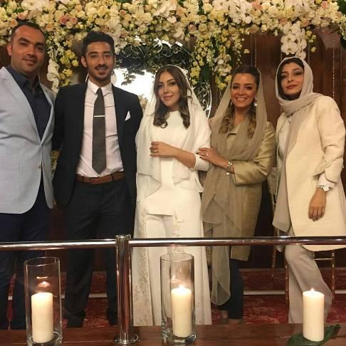 1459493193 عکس های ازدواج رضا قوچان نژاد با خواهر ساره بیات