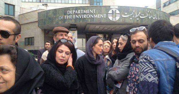 1459686435 تجمع بازیگران در روز سیزده بدر و بازداشت هدیه تهرانی